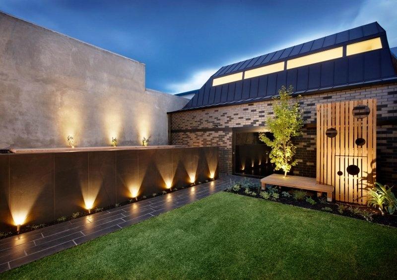 eclairage exterieur facade maison Meilleur de Image Spot LED extérieur 45 idées sur l éclairage de jardin moderne